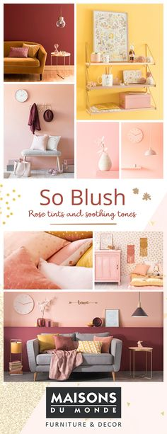 Autumn/Winter 2017 New Look | So Blush | Maisons du Monde | Soothing pink and rose shades with metallic, copper and gold tones. Warm up for winter with the latest look | From sofas to chairs, lighting to mirrors, shop furniture, interiors and home accessories