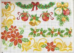 ru / Фото - 4 - ergoxeiro on The Cedrus Cross Stitch Borders, Cross Stitch Flowers, Cross Stitch Designs, Cross Stitching, Cross Stitch Embroidery, Cross Stitch Patterns, Christmas Border, Christmas Cross, Theme Noel