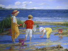 Sally Swatland - Playing in the Tidal Pools