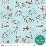 Riley Blake Dress Up Days Blue Bikes Fabric 1 yard Small Room Bedroom, Small Rooms, Bedroom Ideas, Amy Butler Fabric, Nursery Fabric, Dress Up Day, Cabbage Roses, Fig Tree, Fat Quarters