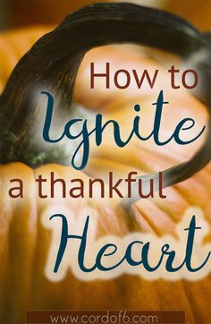 Learn how to ignite a thankful heart and rekindle the embers of joy by fanning the flame of thankfulness!