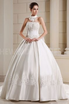 Lace Halter Sweet Bridal Gown - Order Link: http://www.theweddingdresses.com/lace-halter-sweet-bridal-gown-twdn3536.html - Embellishments: Beading; Length: Floor Length; Fabric: Lace; Waist: Natural - Price: 173.4123USD