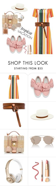 """Let's have a party in the sand"" by xyz-affairs ❤ liked on Polyvore featuring Finery London, Joshua's, Isabel Marant, Janessa Leone, Mark Cross, Christian Dior and Beats by Dr. Dre"