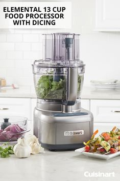 From easy chimichurri for steaks to zesty salsa, chop and dice your favorite dinner and appetizer recipes with Cuisinart's powerful 550 watt Elemental 13 Cup Food Processor with Dicing! Easy Dinner Recipes, Appetizer Recipes, Appetizers, Cuisinart Food Processor, Food Processor Recipes, Peach Syrup, Gluten Free Puff Pastry, Recipe Notes, Chimichurri