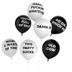 Thick Air Balloons  Funny Adult Humour Balloons For Party 10Pack  Party Black *** Read more  at the image link.