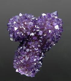 Quartz (Amethyst) with Calcite