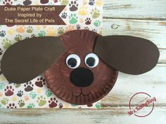 Duke Paper Plate Craft inspired by The Secret Life of Pets – Mrs. Kathy King The Secret Life of Pets birthday party idea Duke Paper Plate Craft Animal Crafts For Kids, Toddler Crafts, Preschool Crafts, Playgroup Activities, Classroom Crafts, Adult Crafts, Animal Birthday, Diy Birthday, Birthday Parties