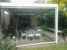 For additional privacy choose our micro-perforated PVC mesh Roll Up screens, providing effective screening from the sun and protection from the wind.