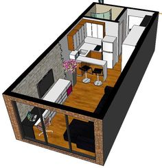 bedroom apartment and house plans ideas 5 ~ mantulgan.me bedroom apartment and house plans. Studio Apartment Floor Plans, Studio Apartment Layout, Small Apartment Design, Small Apartment Plans, Studio Apartment Kitchen, Room Kitchen, Bedroom Apartment, Garage Apartments, Small Apartments