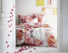 parure de lit a fleurs aquarellees