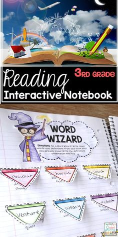 Reading Interactive Notebook for Grade - Includes cover and activities for students during independent reading time! Reading Response Notebook, Reading Notebooks, Interactive Notebooks, Writing A Book, Education Quotes For Teachers, Quotes For Students, Quotes For Kids, 3rd Grade Reading, Reading Time