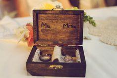Love this beautiful ring box!  Modern Rustic Wedding Ideas   Heart Love Weddings