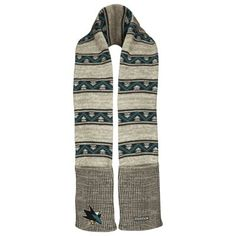 Reebok San Jose Sharks Face-Off Scarf - Cream/Teal #MyNHLWishListSweeps