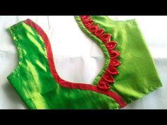 silk saree modal blouse back neck designs Latest Blouse Neck Designs, Simple Blouse Designs, Saree Blouse Neck Designs, Stylish Blouse Design, Dress Neck Designs, Sari Blouse, Blouse Neck Models, Patch Work Blouse Designs, Designer Blouse Patterns