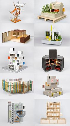 A doll's house, mini arquitectura benéfica | [De izquierda a derecha y de arriba a abajo: 1.AMODELS, 2.COFFEY ARCHITECTS, 3.ADJAYE ASSOCIATES, 4.ALLFORD HALL MONAGHAN MORRIS, 5.DEXTER MOREN, 6.DRDH ARCHITECTS, 7.DRMM, 8.DUGGAN MORRIS ARCHITECTS, 9.FAT ARCHITECTURE, 10.GLENN HOWELLS]