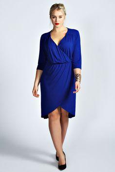 Eden Wrap Front Dress at boohoo.com