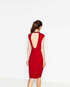 Image 4 of DRESS WITH MAO COLLAR from Zara