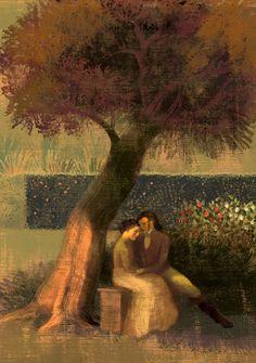"Anna and Elana Balbusso Illustration for ""Jane Eyre"". Jane Eyre, Alexander Pushkin, Romance, Bronte Sisters, Anna, Charlotte Bronte, Book Illustration, Illustrators, Artwork"