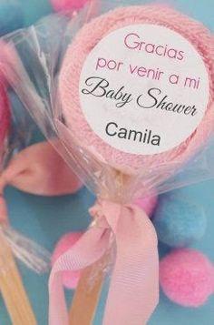 DIY Paletas con toalla de bebé para BabyShower