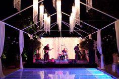 glowing dance floor