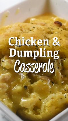 Chicken & Dumpling Casserole Recipe Chicken & Dumpling Casserole Recipe,Food Chicken & Dumpling Casserole Recipe without biscuits- use rotisserie chicken for a simple weeknight meal. Can also use leftover holiday turkey. Guaranteed to have. Chicken Dumpling Casserole, Pasta Casserole, Baked Chicken And Dumplings, Cheesy Chicken Rice Casserole, Chicken And Dumplins, Easy Casserole Dishes, Cordon Bleu Casserole, Cheesy Potato Soup, Steamed Dumplings