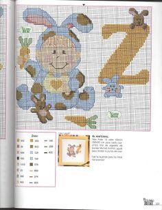 Arte by Cachopa - Ponto Cruz I: Monograma com bebê Cross Stitch For Kids, Cross Stitch Baby, Cross Stitch Alphabet, Cross Stitch Charts, Cross Stitch Patterns, Stitch 2, Letters And Numbers, Embroidery Art, Cross Stitching
