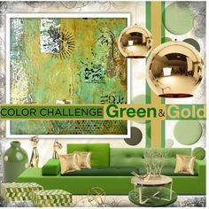 Designer Clothes, Shoes & Bags for Women Interior Decorating, Interior Design, Tom Dixon, Green And Gold, Challenges, Interiors, Wall, Polyvore, Color