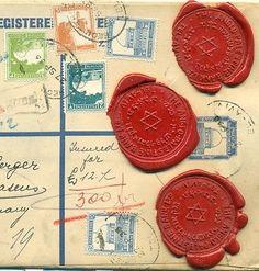 ANGLO PALESTINE BANK /GERMANY REG INSU+WAX RARE COVER - bidStart (item 57015465 in Stamps... Palestine)