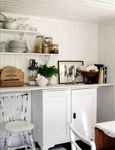 I love those Ikea shelf brackets.  I didn't know they could hold so much weight.  Think I'll reconsider them in the laundry room because they're so reasonably priced.