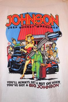 44560f1e Original 90s Vintage BIG JOHNSON T Shirt Mens Large Socket Wrenches Funny  Tee #BigJohnson #GraphicTee
