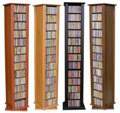 676 CD 324 DVD 2 Sided Spinning Storage Tower Rack NEW