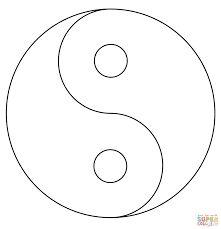 YIN-YANG: Luego se dibuja un círculo de radio uno y con él se unen los otros dos extremos de los círculos de radio ½