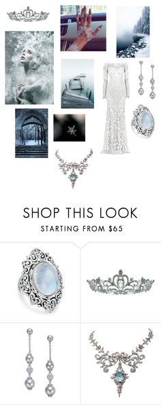 """""""Bitter cold"""" by jessiestarman ❤ liked on Polyvore featuring Zuhair Murad, Bling Jewelry, Cannella, Kate Marie, Kate Spade, Winter, cold, SnowQueen, bitter and elsa"""