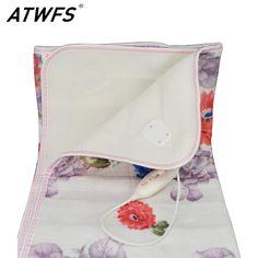 Atwfs 150*120 cm selimut listrik dipanaskan listrik selimut tidur ganda listrik karpet tubuh hangat bantal pemanas hangat termostatik