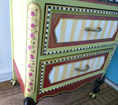 Custom Painted Furniture  Made to Order  Reserve  by WhimsyBurd,...beautiful!