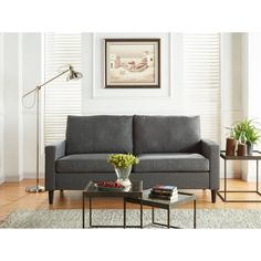 Heather Grey Apartment Sofa, Upholstery-Grade Solids and a Plywood Frame Construction, Pocketed Coil Seating, Living Room Sofa is Covered with Upholstery Bundle with Expert Guide for Better Life Chesterfield Sofa, Sofa Couch, Couch Set, Tufted Sofa, Living Room Furniture Layout, Living Room Sofa, Living Room Designs, Living Room Decor, Kitchen Furniture