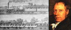 21 février 1804 ♦ Le premier train au monde s'ébranle, tracté par un marteau-pilon en guise de locomotive.