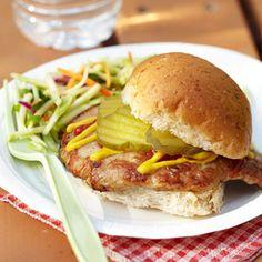Pork Tenderloin Sandwiches  #myplate #protein #grains #vegetables