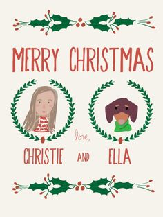 Merry Christmas from Christie and Ella!