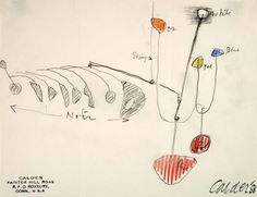 calder sketches of mobiles - Google Search