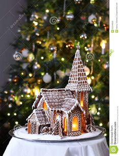 Gingerbread Church Christmas Tree Background - Download From Over 68 Million High Quality Stock Photos, Images, Vectors. Sign up for FREE today. Image: 52244643