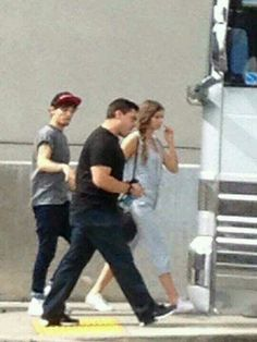 Eleanor and Louis near tour bus yesterday!
