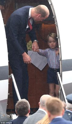 The Duke of Cambridge had to do some gentle coaxing to persuade Prince George to leave the...