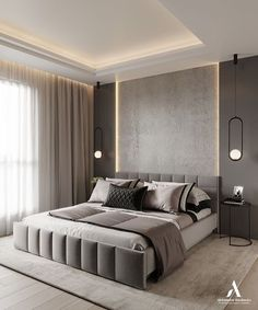 Bedroom False Ceiling Design, Master Bedroom Interior, Room Design Bedroom, Modern Master Bedroom, Bedroom Furniture Design, Home Room Design, Home Decor Bedroom, Gray Bedroom, Bedroom Ideas