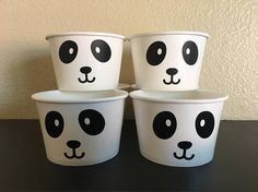 These cups are great addition for your panda inspired party. They are both useful and decorative. Each cup holds 8 oz. of liquid ( Hot or cold). These are great for soups, ice cream bar, yogurt bar, snacks, candy, or party favors. These are available in: 8 count 12 count 16 count 20 count 25 count 30 count 40 count 50 count Please check the amount button for pricing. I am available for custom orders. Please message me with any questions you may have.