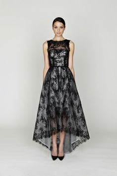 monique lhuillier pre-fall 2012, innocent in black lace