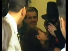 A fan kissing Michael Jackson On The Lips