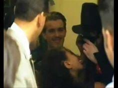 A fan kissing Michael Jackson On The Lips