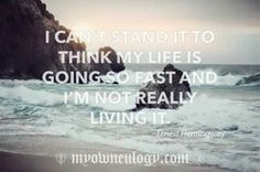 Quote by Ernest Hemingway  Life is short. #life #precious #cherish #living #priceless