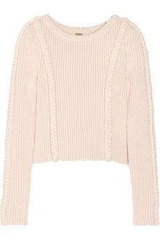 He's back with a vengeance! Adam Lippes-miss you-Cropped chunky-knit cotton-blend sweater